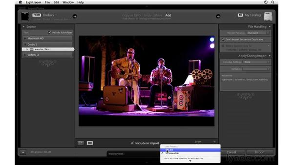 Creating a metadata preset: Lightroom 3 Essential Training