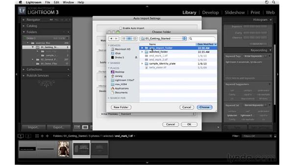 Using Auto Import: Lightroom 3 Essential Training