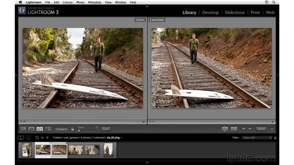 Working with the toolbar in Grid view and Loupe view: Lightroom 3 Essential Training