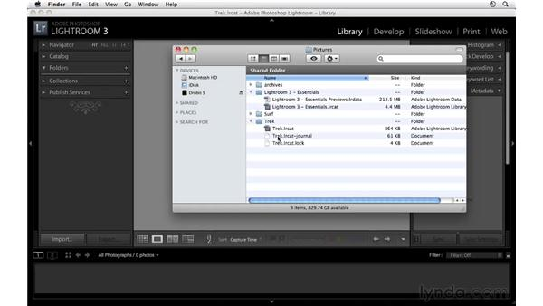 Working with catalogs: Lightroom 3 Essential Training