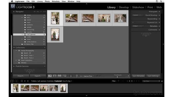 Grouping images with collections: Lightroom 3 Essential Training