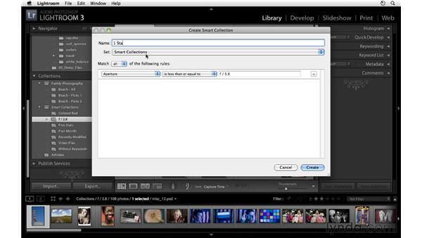 Using Smart Collections: Lightroom 3 Essential Training