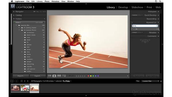 Working with the keyword list: Lightroom 3 Essential Training