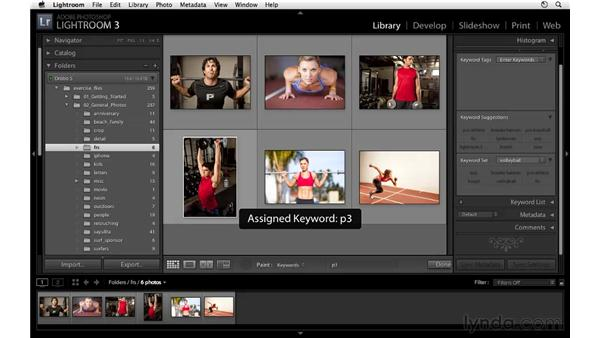 Keywording with the spray can: Lightroom 3 Essential Training