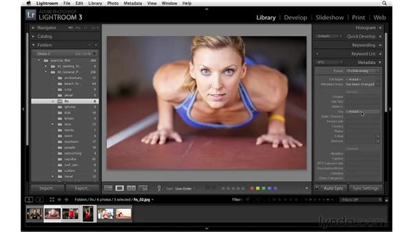 Working with the Metadata panel: Lightroom 3 Essential Training