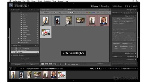Filtering overview: Lightroom 3 Essential Training
