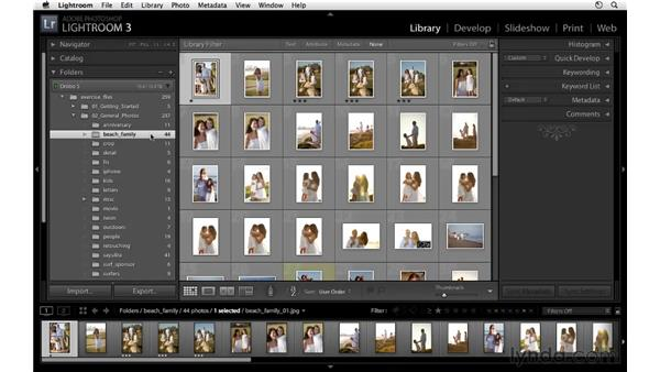 Locking library filter options: Lightroom 3 Essential Training