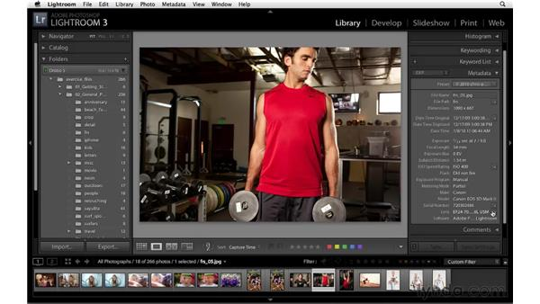 Filtering your photos using the Metadata panel: Lightroom 3 Essential Training