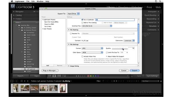 Exporting images: Lightroom 3 Essential Training
