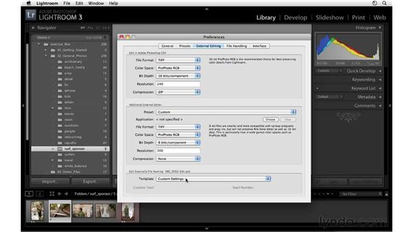 External editing preferences and considerations: Lightroom 3 Essential Training
