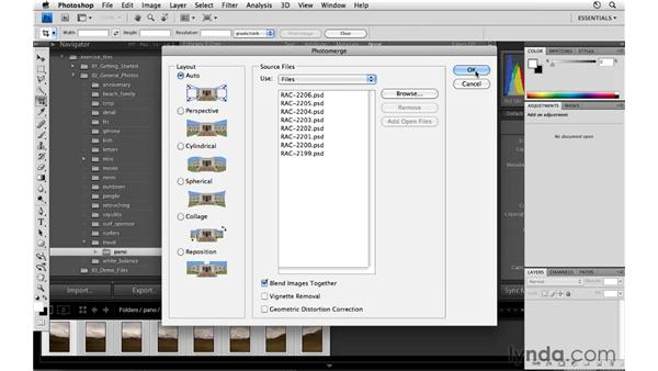 Creating a panorama: Lightroom 3 Essential Training