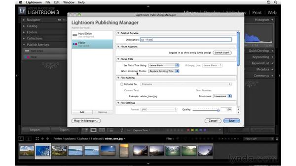 Setting up Flickr services: Lightroom 3 Essential Training