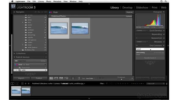 Working with comments: Lightroom 3 Essential Training