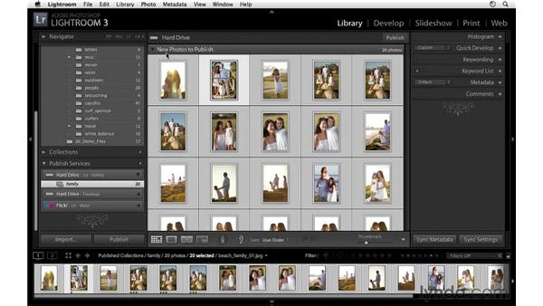 Publishing to a folder: Lightroom 3 Essential Training