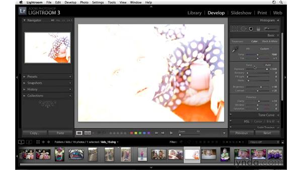Resetting images to their default settings: Lightroom 3 Essential Training