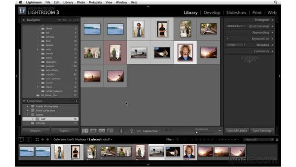 Working with collections: Lightroom 3 Essential Training