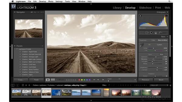 Creating virtual copies: Lightroom 3 Essential Training