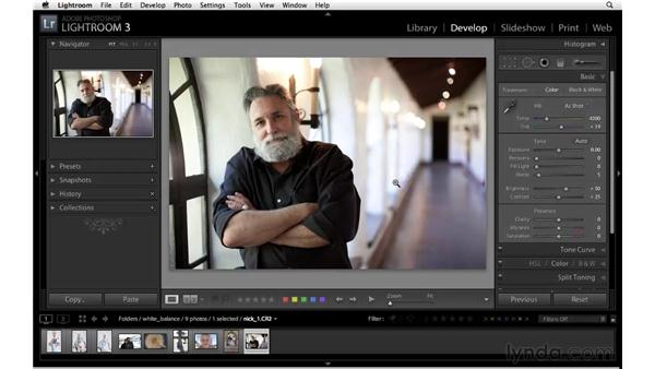 Understanding white balance and color temperature: Lightroom 3 Essential Training