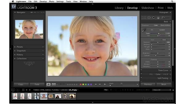 Creative uses of white balance: Lightroom 3 Essential Training