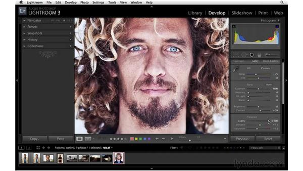 Working with clarity: Lightroom 3 Essential Training