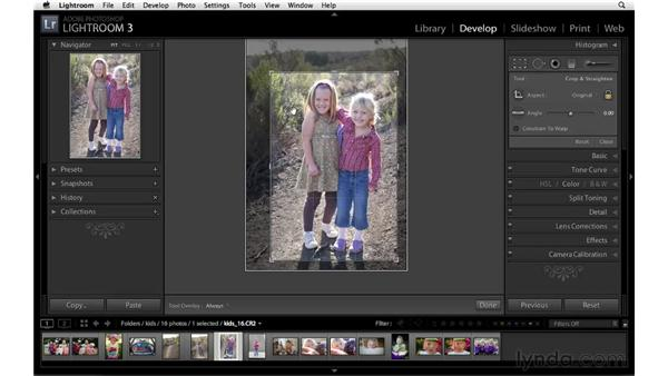 Quickly changing crop orientation: Lightroom 3 Essential Training