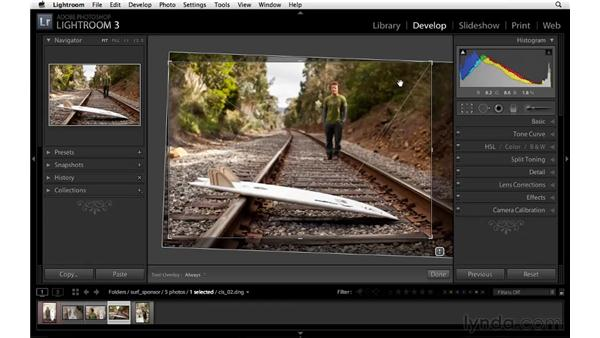 Using Crop to improve a composition: Lightroom 3 Essential Training