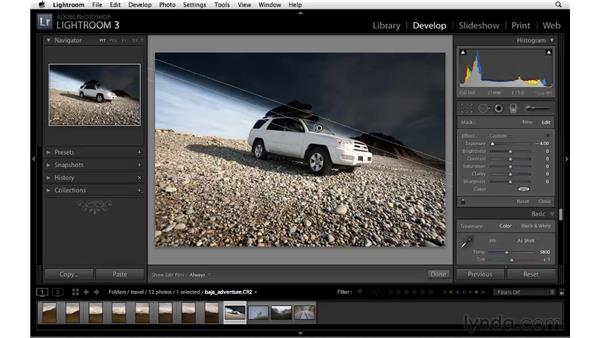 Introducing the Graduated filter: Lightroom 3 Essential Training