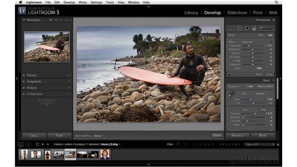 Improving a portrait with the Graduated filter: Lightroom 3 Essential Training