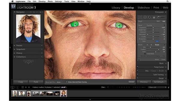 Improving eyes: Lightroom 3 Essential Training