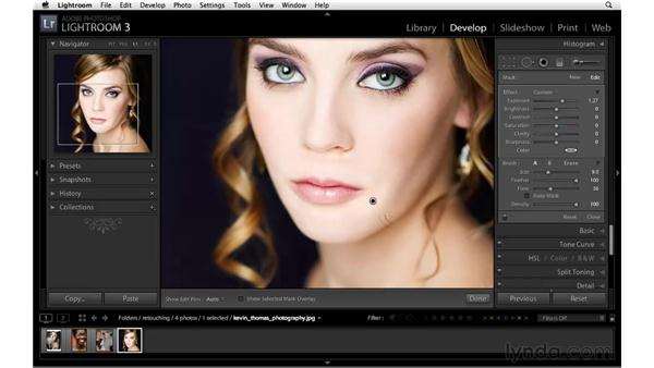 Brightening and improving shadows: Lightroom 3 Essential Training