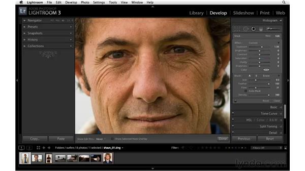 Subtly correcting exposure: Lightroom 3 Essential Training