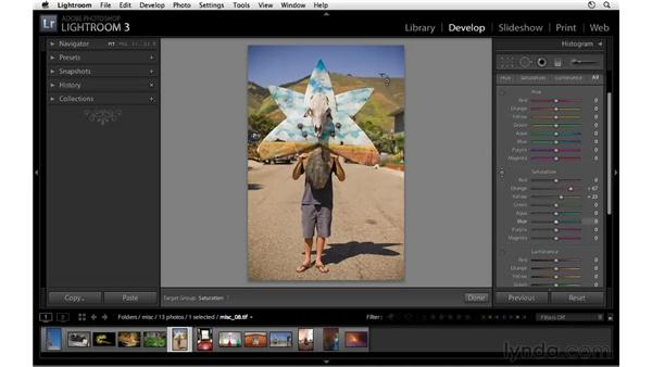 Using HSL to increase warm and cool tones: Lightroom 3 Essential Training