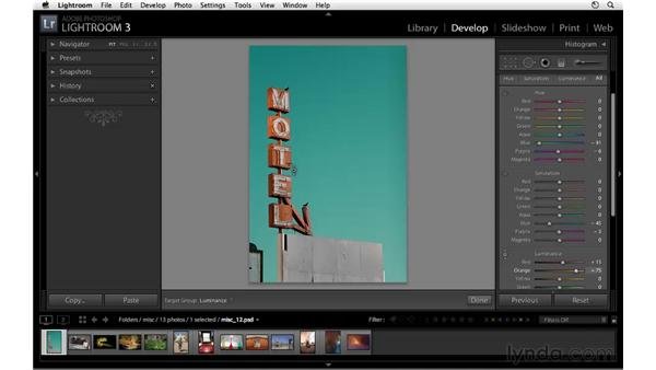 Creative color with HSL: Lightroom 3 Essential Training