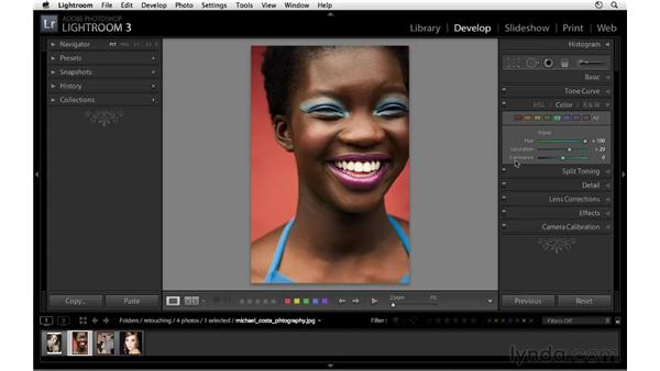 Using the Color panel: Lightroom 3 Essential Training