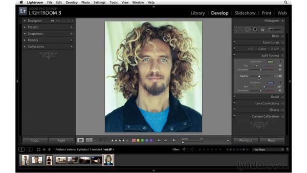 Split-toning a color image: Lightroom 3 Essential Training