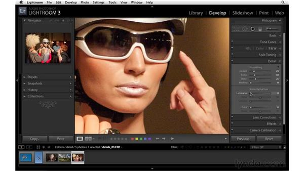 Introducing noise reduction: Lightroom 3 Essential Training
