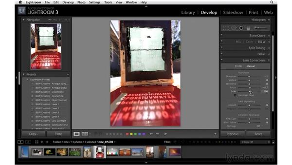 Enhancing images with lens correction: Lightroom 3 Essential Training