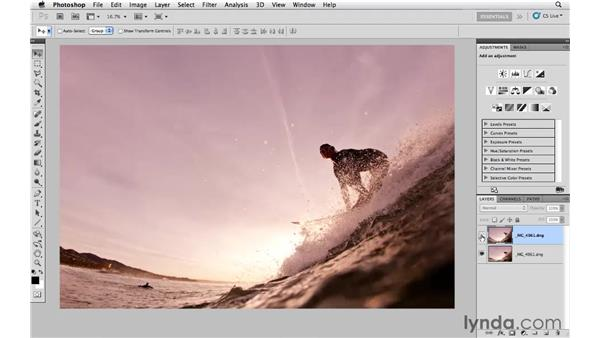 Combining lens correction, Lightroom, and Photoshop: Lightroom 3 Essential Training