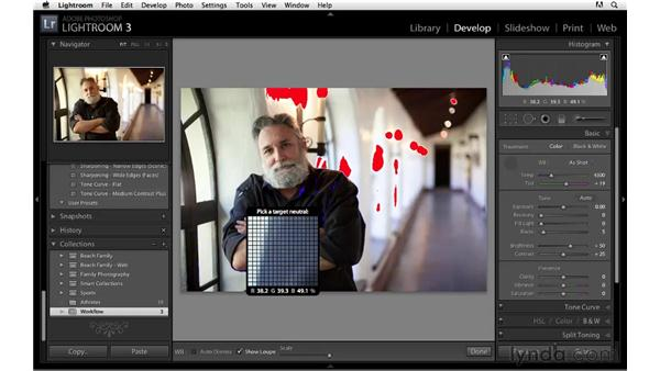 Basic Develop module workflow: Lightroom 3 Essential Training