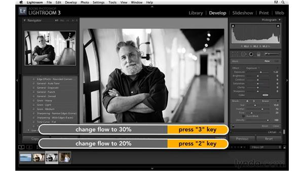 Workflow for converting to black and white: Lightroom 3 Essential Training