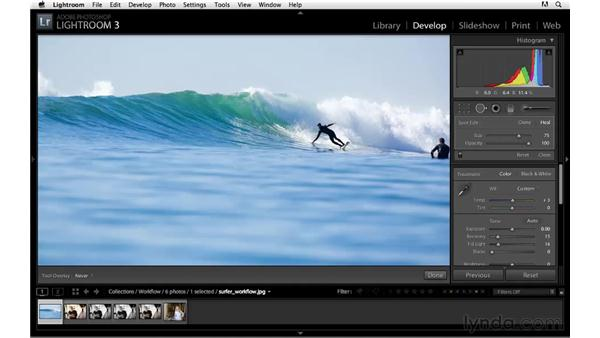 Workflow project: Surfing: Lightroom 3 Essential Training