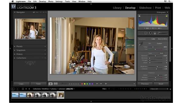 Workflow project: Portrait: Lightroom 3 Essential Training