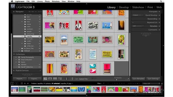 Creating a collection to make a slideshow: Lightroom 3 Essential Training