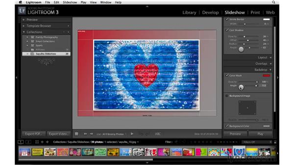 Customizing the background of the slideshow: Lightroom 3 Essential Training