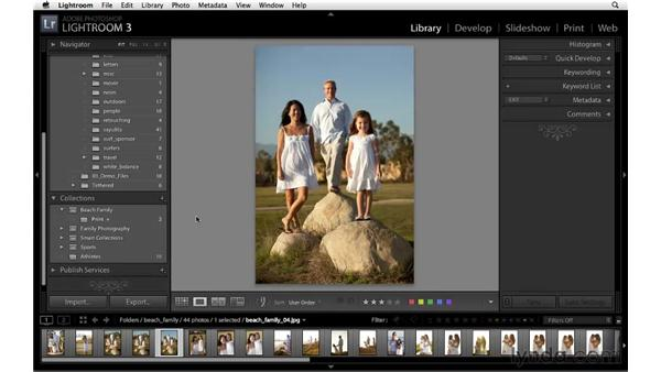 Creating a collection of images to print: Lightroom 3 Essential Training