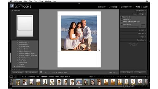 Customizing the layout of a single image: Lightroom 3 Essential Training