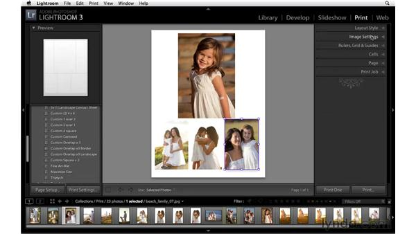 Creating a picture package: Lightroom 3 Essential Training