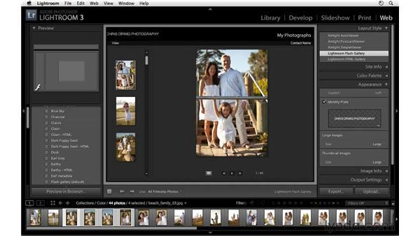Customizing a web gallery: Lightroom 3 Essential Training
