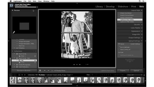 Creating color and black-and-white galleries: Lightroom 3 Essential Training