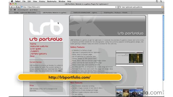 Online web gallery resources: Lightroom 3 Essential Training